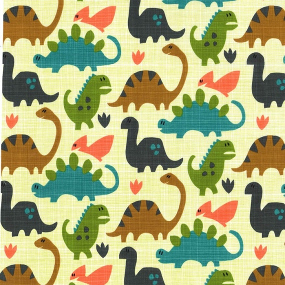 Flannel old friends by michael miller fabrics dinosaur flannel for Dinosaur fabric
