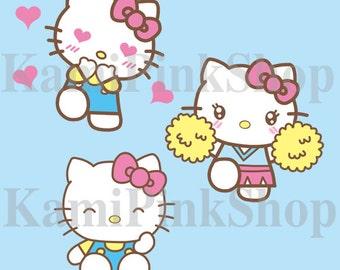Hello kitty clipart | Etsy