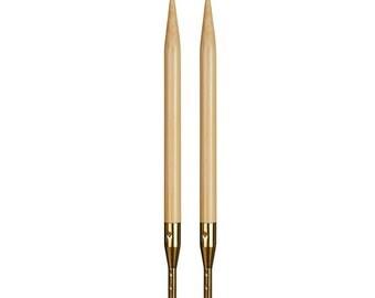 ADDI bamboo interchangeable needle tips standard length 3.50 mm - 5.00 mm