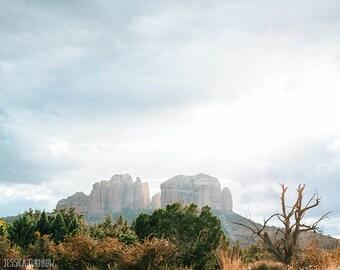 Sedona, Arizona - Photography Print, Dreamy Desert Art, Modern Southwestern, Minimalist, Nature Landscape Light Colors, Pale, Spiritual