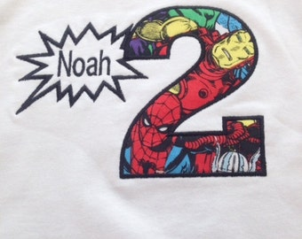 Avengers Birthday Name Shirt