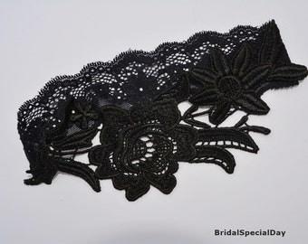 Black Wedding Garter Set Lace Lingerie Garters
