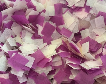 Soft Wedding Confetti / Romantic Wedding Confetti / Biodegradable Confetti / Cream, Pink and Plum Confetti / Bio-degradable Confetti