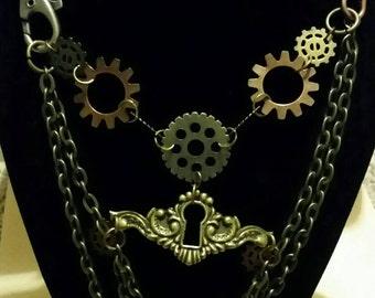 Lace Steam Punk Necklace