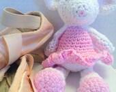 Cocheted Handmade Mouse Ballerina Doll, Easter Gift