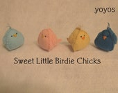 PASTEL FELT BIRDIES Set of Four Chicks Easter Spring Holiday Home Décor
