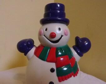 Very Rare Vintage Plastic Snowman