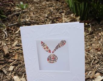 bunny  greetings card , blank inside