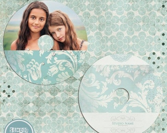 ON SALE CD label photoshop template - Senior 2014 - Instant Download