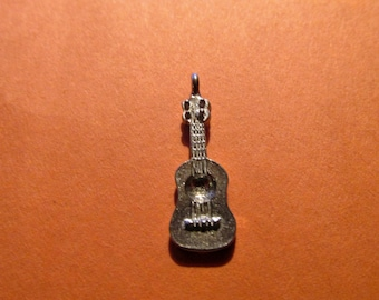 Dozen Pewter Guitar Charms