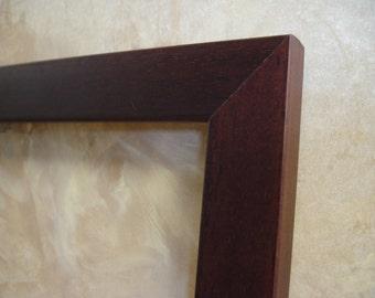 brown 11 x 14 wood frame walnut finish contemporary modern photo art