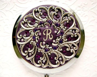 Unique Bridesmaid Gift-Personalized Bridesmaid Gift-Dark Violet Purple Wedding