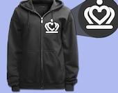 Crown Heart Logo Hoodie Sweatshirt