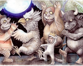 8x10 Where The Wild Things Are print