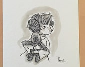 "Original, signed ""Wookiee the Chew"" drawing - ""Who's Scruffy Lookin'?"" by James Hance"
