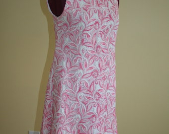 Twiggy lace pink and white Mod dress  Small