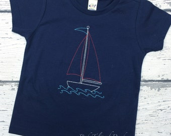 Vintage sailboat shirt, Sailboat shirt, Sailboat bodysuit, Sailboat infant gown, Vintage boat tshirt, Baby boy sailboat shirt