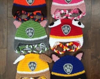 Paw Patrol Crocheted Hat
