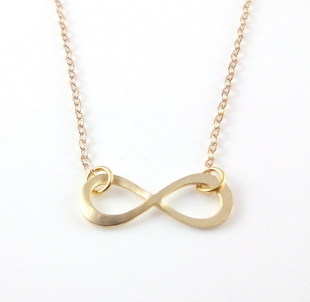dainty infinity necklace gold infinity charm by