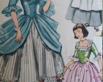 Vintage Simplicity 4031 Sewing Pattern Size 12 Bust 30 Colonial and Puritan Costumes