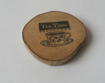 Tea time kitchen themed fridge magnet, kitchen decor, refridgerator magnet, christmas, stocking filler