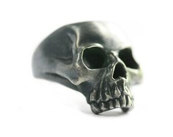 Classic Skull Ring -Silver Skull Ring -Biker Skull Ring-Large Skull Ring-Heavy Skull Ring-Rocker Skull Ring-Punk Skull Ring -Mens Skull Ring