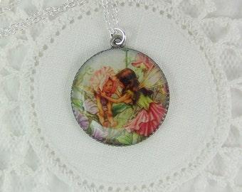 Fairy Necklace, Fairytale Necklace, Woodland Fairy, Fairy Pendant, Enchanting Fairy, Child's Necklace, Princess Necklace, Fairy