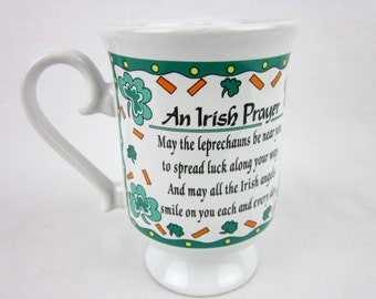 Vintage 80s Irish Prayer Coffee Mug, Russ