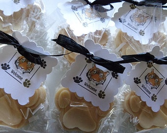 10 Tiger Paws Soap Favors, Set of 10 Complete, Party Favors, Game Favors, Football Parties