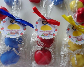 10 Snow White Party Soap Favors, Snow White's Apple, Birthdays, Special Occasion Favors, 20 Soaps