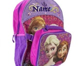 "30% OFF - Personalized BackBag and Lunch Box, Personalizes Disney Frozen 16"" Full Size Backpack with Detachable Lunch Bag"