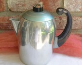 Antique Aluminum Coffee Pot - Art Deco, Wear Ever, Model # 2328 - 1940's - Rare, Collectible!