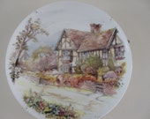 Vintage Wall hanging Plate Leicester Mac Donald Country Cottage SALE ITEM