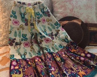 Woodland Ruffle Pants for Girls Enchanted  Forest set