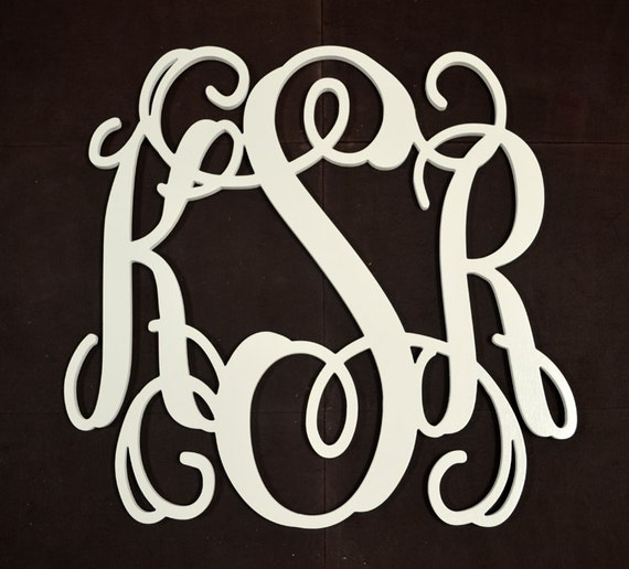 24 Inch Wooden Monogram - Nursery Wall Letters - Wedding Gift - Wall Decor Wood Letters