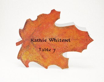 Maple Leaf Place Card - Fall - Unique - Wedding Place Card - Event Escort Card - Customize