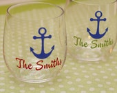 Personalized stemless acrylic wine glasses
