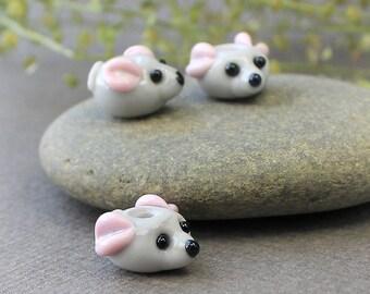 Little Mouse Lampwork Beads, Lampwork Animal Bead, Handmade Artisan Glass Beads, Lampwork Mouse Beads, Lampwork Glass Beads, Lampwork, Glass