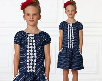 Peasant dress pattern PDF, girls sewing pattern pdf, dress sewing pattern , dress pattern, short and long sleeve peasant pattern, DAISY