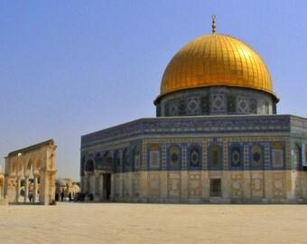 Dome of the Rock. Jerusalem. 8x12
