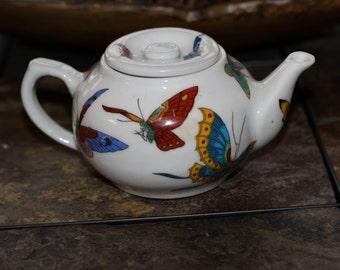 Beatiful Vintage Butterfly Tea Pot
