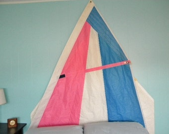Sail Headboard panel made from recycled Windsurfer sail