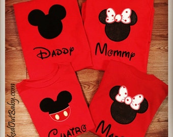 Mickey Mouse Shirts for Family!!! Family Mickey Mouse Shirts - Minnie Mouse Shirt - Custom Order! Personalize with any name!!!