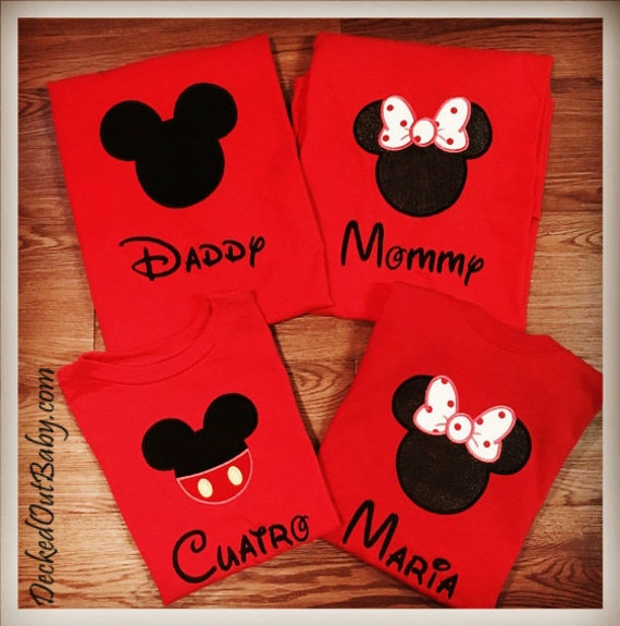 mickey mouse shirts for family family mickey mouse shirts. Black Bedroom Furniture Sets. Home Design Ideas