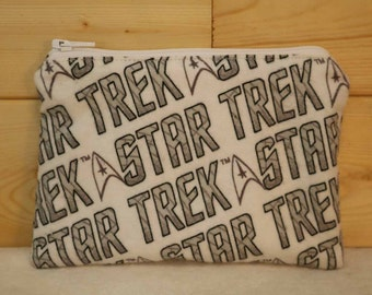 One Snack Sack, Reusable Lunch Bags, Flannel, Waste-Free Lunch, Machine Washable, Star Trek, Back to School, School Lunch, item #SS78