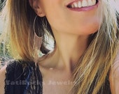 Simply Fringe Hoop Earrings,  Hoop Earrings, Fringe, Christmas Gift, Festival