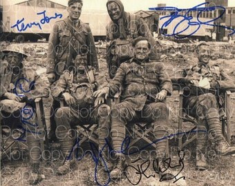 Monty Python Holy Grail signed cast Michael Palin  Terry Gilliam  Terry Jones  John Cleese  Eric Idle 8X10 photo picture signed autograph RP