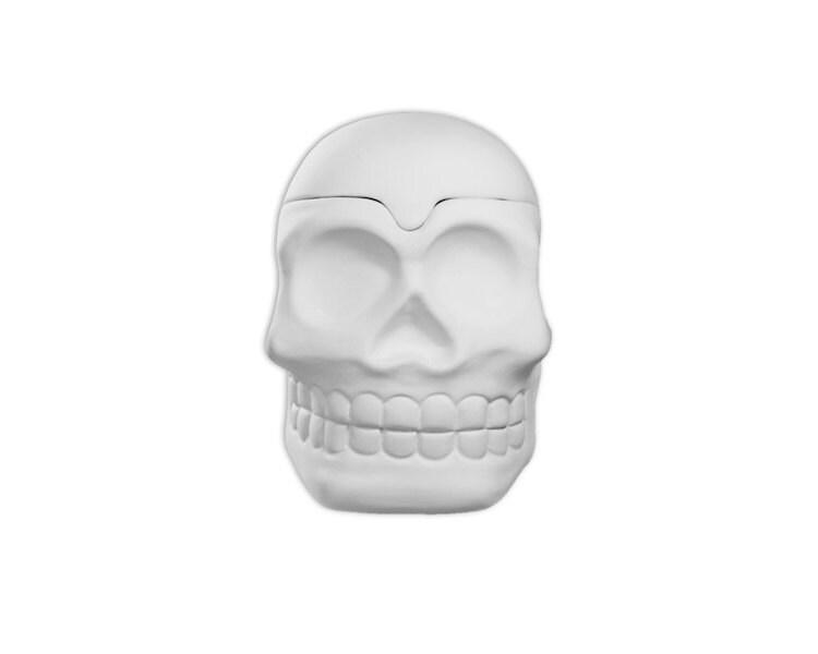 Skull box ceramic bisque paintable pottery craft supplies for Bisque ceramic craft stores