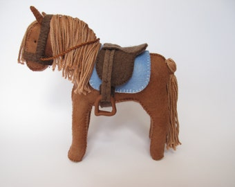 Felt Horse Saddle/Bridle Sewing Pattern