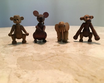 Mid Century Zoo Line animals - set of 4